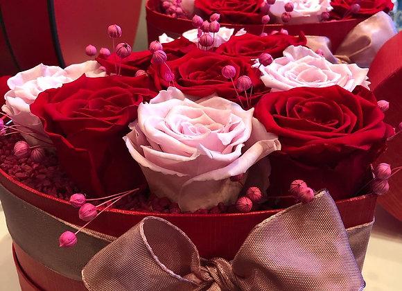 Love box coeur roses éternelles