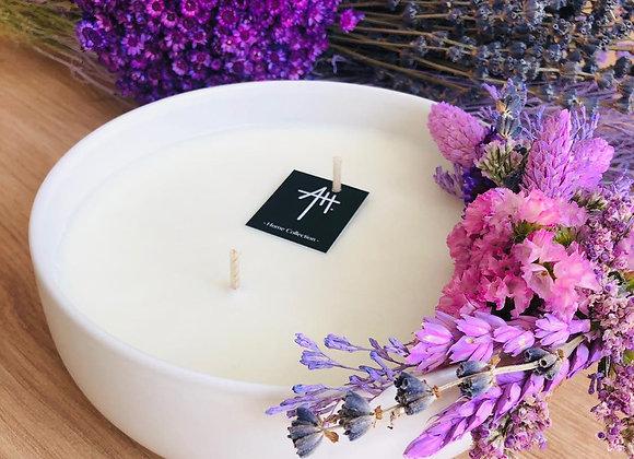 Bougie parfumée pince fleurs d16 h6