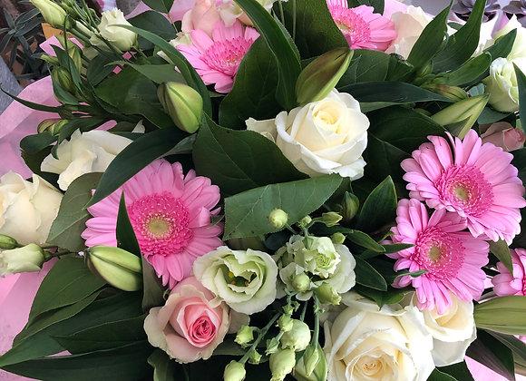 Bouquet rose et blanc