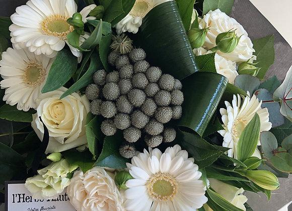 Bouquet blanc serré 2