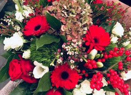 Bouquet décembre rouge