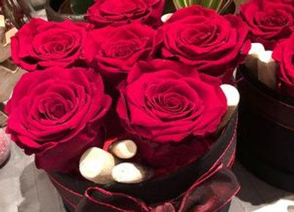 Roses éternelles boite velours (2 formats)