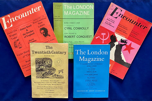 Collection of Literary Magazines Feat. Articles with Ian Fleming and Jame Bond