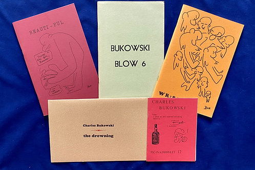 Five Chapbooks and Periodicals Featuring the Work of Charles Bukowski