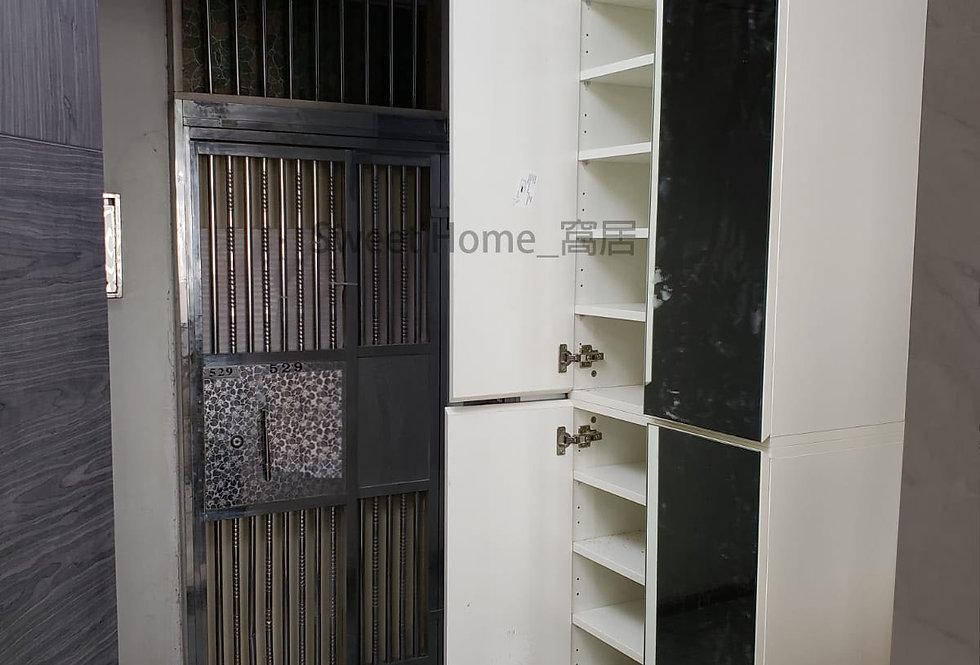 客人訂制 (西灣河泰安樓)  #高身鏡面鞋櫃 +梳妝台 實物圖片#924