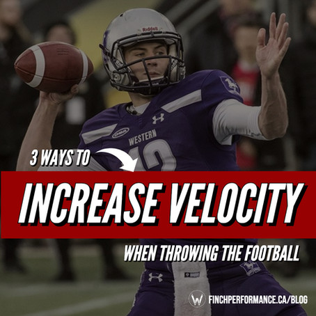 3 Ways to Increase Velocity When Throwing the Football