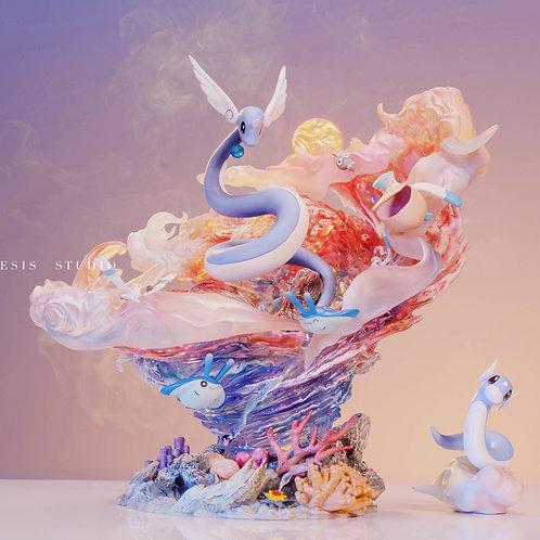 """【Preorder】Genesis Studio Pokemon A waltz to the glow of """"Three Snakes"""" Dragonair"""