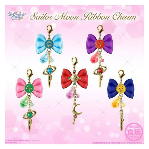 Sailor Moon Mercury Mars Jupiter Venus Ribbon Charm set of 5 Bandai