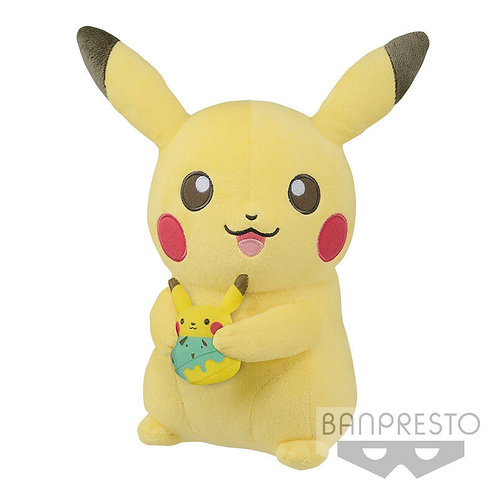 "Pokemon Pikachu Tea Party 12"" Plush Doll Banpresto (100% authentic) U.S. seller"
