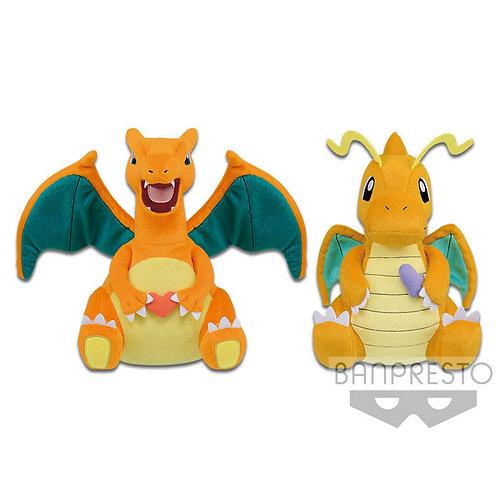 "Pokemon Charizard and Dragonite Big 14"" Plush Doll Banpresto (100% authentic)"