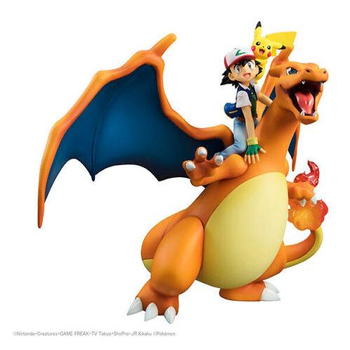 GEM Pokemon Ash Saitoshi Charizard Pikachu 1/8 figure Megahouse (100% authentic)
