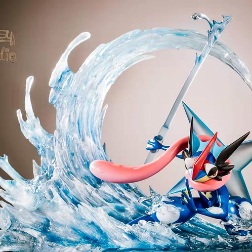 Ash's Greninja - Pokemon Resin Statue