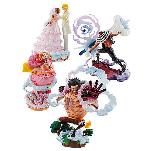 One Piece Logbox Re Birth Luffy Sanji Nami Katakuri 4 figure set Megahouse