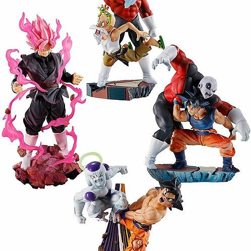 Dragonball Dracap Re Birth Goku Freeza Jiren Rose Black 4 figure set Megahouse
