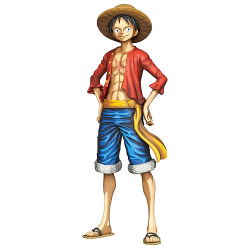 "Grandista One Piece Monkey D. Luffy Manga Dimension 12"" PVC figure Banpresto"