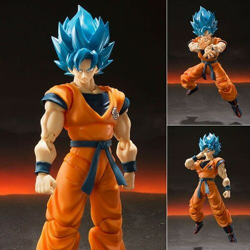 S.H. Figuarts Dragonball Super Saiyan God SSGSS Goku action figure Bandai