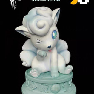 Zero Tribe Company 1/1 Pokemon ice Vulpix special JC Model FiguIn stre GK Statue
