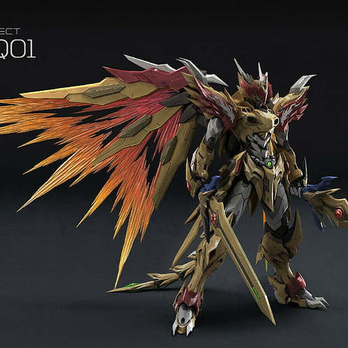 Motor Nuclear 1/72 Mashin Hero Diecast Yellow Dragon Model # MN-Q01