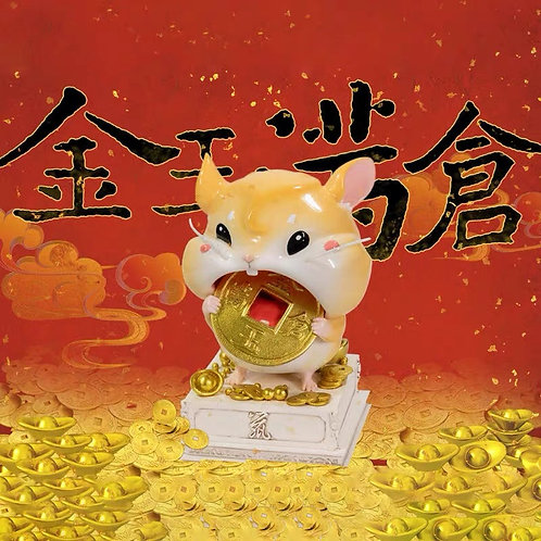 Infinity Studio Lucky Mouse Biting Gold Coin