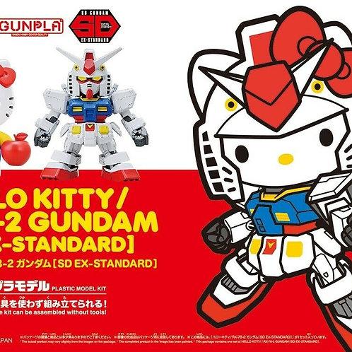 Bandai Gundam SD EX-Standard Hello Kitty and RX-78-2 Gundam Set Model Kit