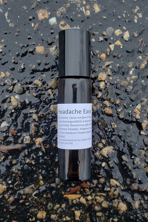 Headache Ease Essential Oil Blend - Diluted Roll-on Bottle