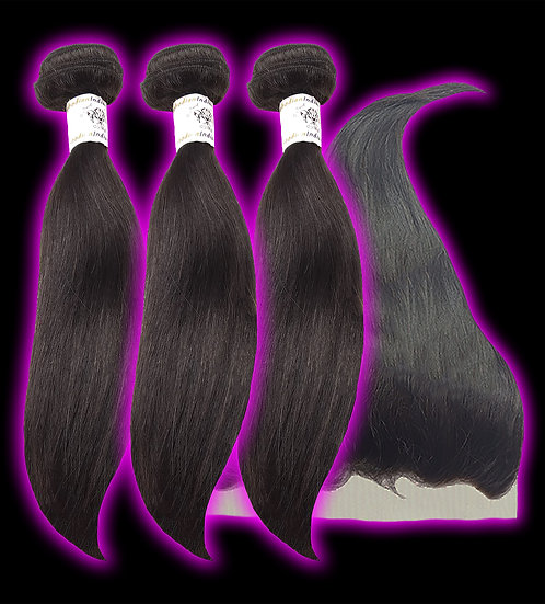 (Straight) 3 BUNDLES + FRONTAL