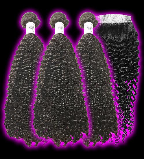 (Curly) 3 BUNDLES + CLOSURE