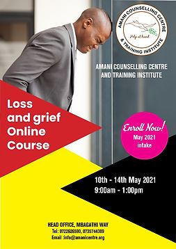 Loss and Grief 10th to 14th May  (Amani