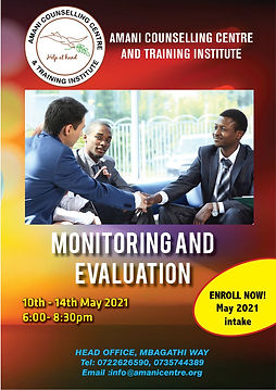 Monitoring and Evaluation  Short Course