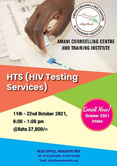 (HTS) HIV TESTING SERVICES 11TH -22ND OC