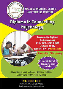 Diploma in Counselling Psychology Amani