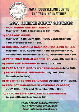 Final Head office Short courses Calender