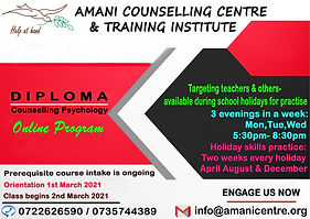 Online Evening Diploma in Counselling Ps