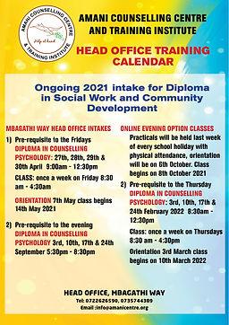 AMANI MBAGATHI OFFICE (Diploma) CALENDAR