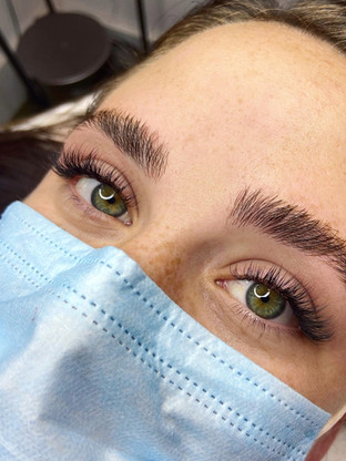 Before lashes and brows