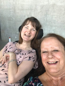 My beautiful Mum and I