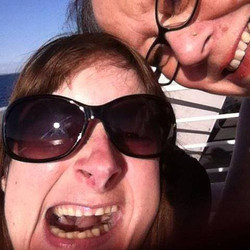 Mummsy and I onboard the Queenscliff Ferry