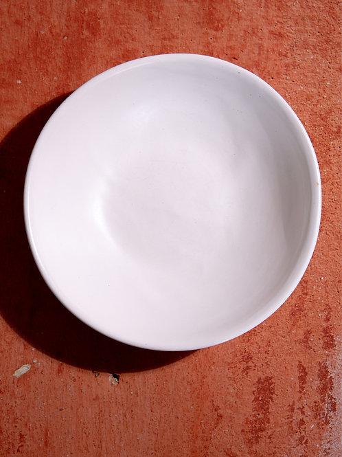 Handmade white ceramic bowl