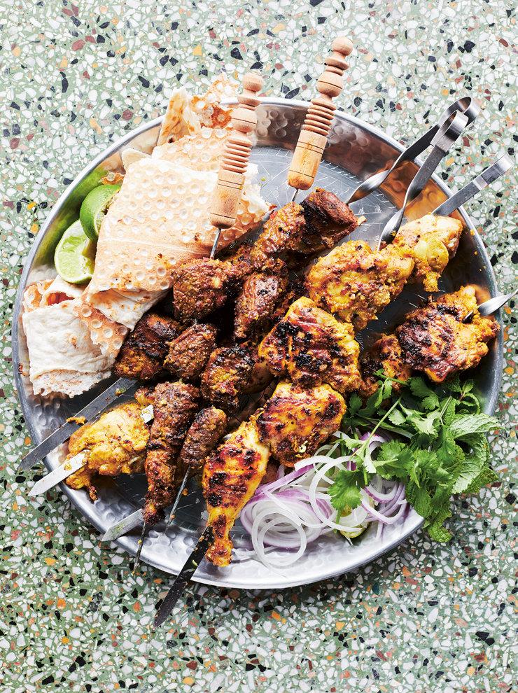 Kebabeh sikhi (Afghan lamb skewers)