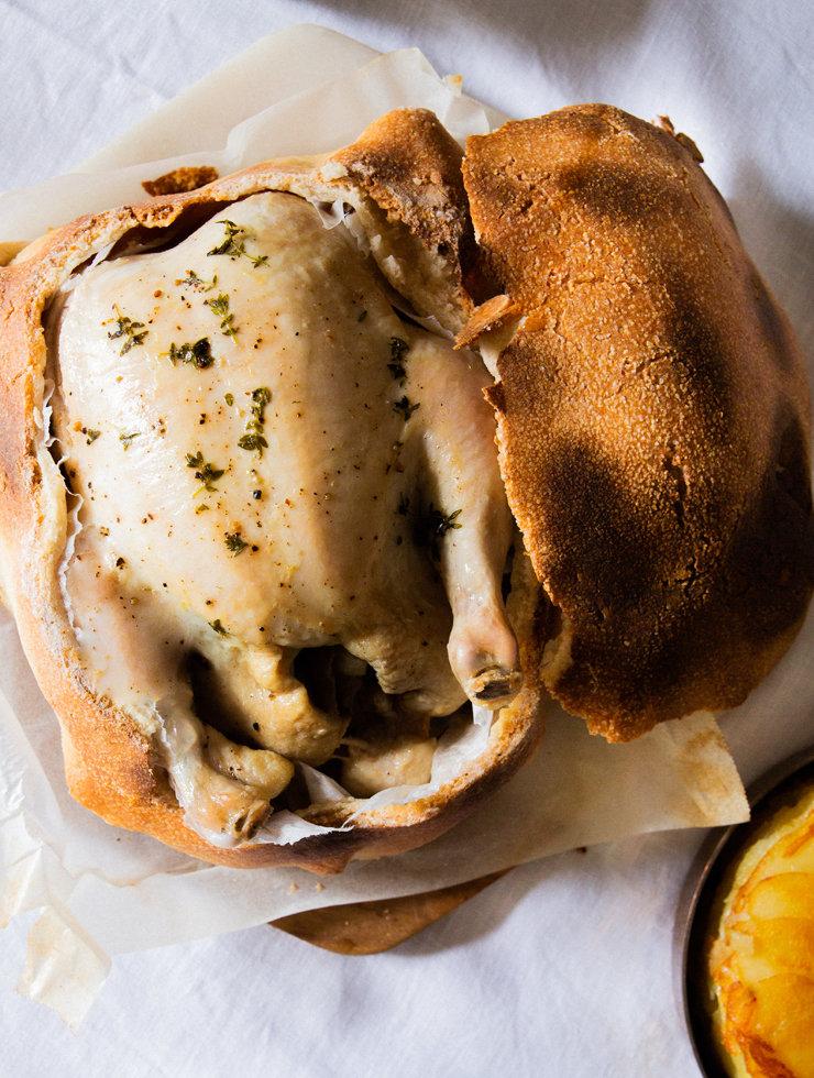 Janni Kyritsis' chicken baked in salt dough
