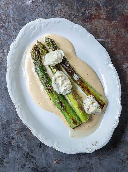 Asparagus with burnt butter