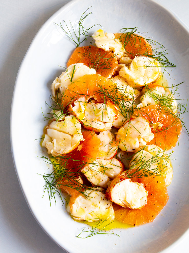 Lobster with pink grapefruit and fennel fronds