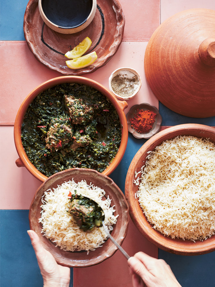 Sabzi (Afghan spinach and lamb curry)