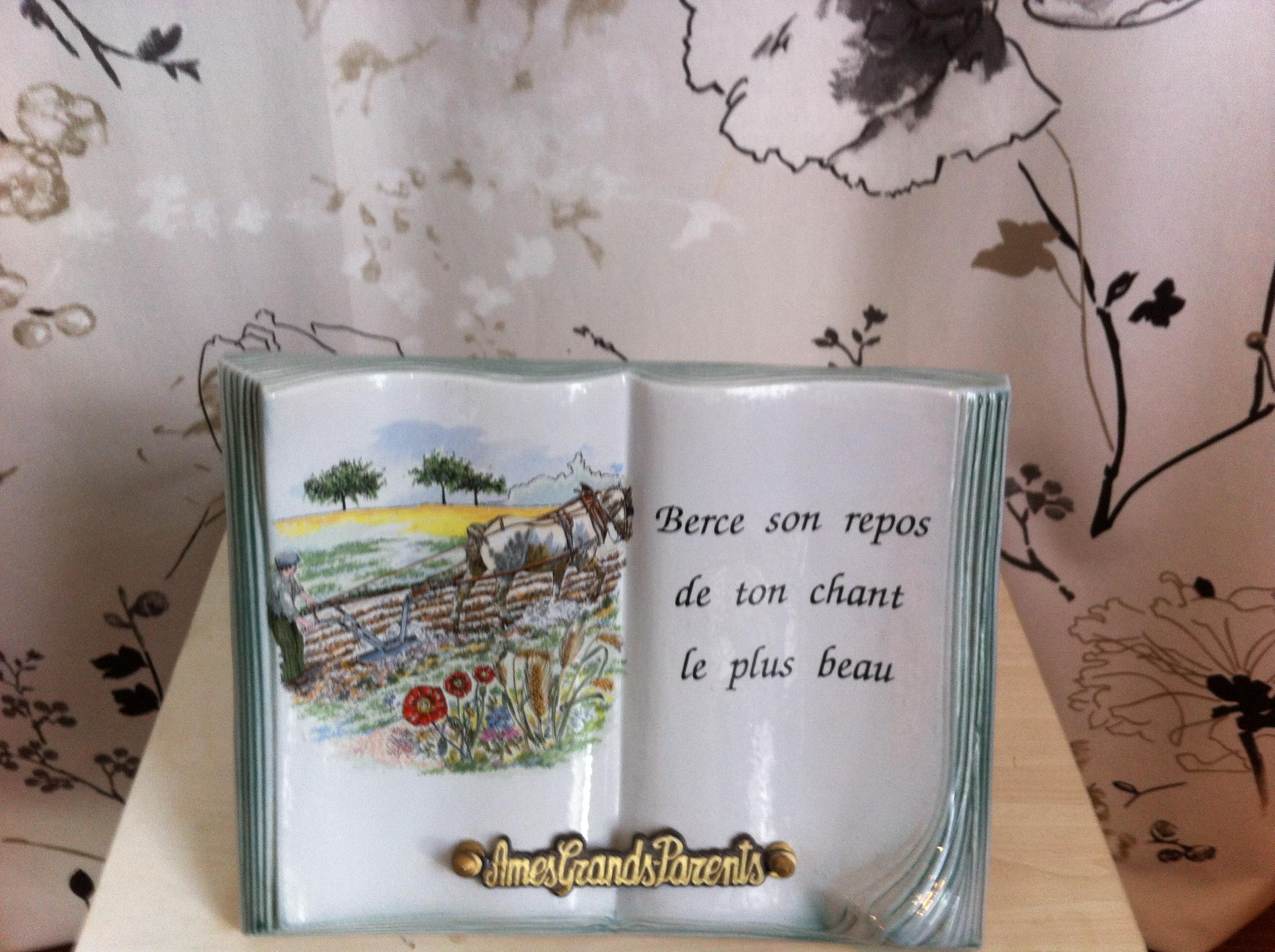 plaque porcelaine