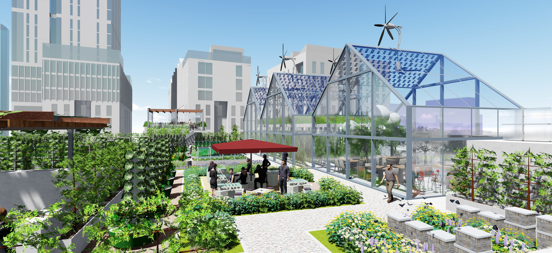 Roof tops can become showcases for the circular economy supporting a wide range of business activities