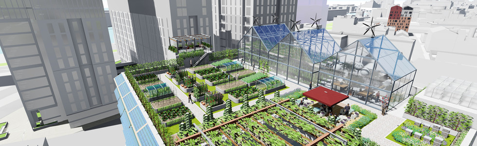 Multi Storey Car Park roofs may make ideal starting points for urban ag