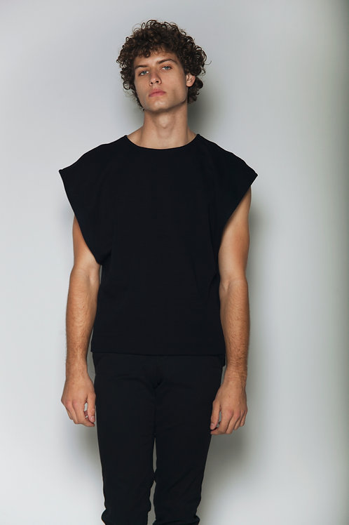 Black huipil T-shirt