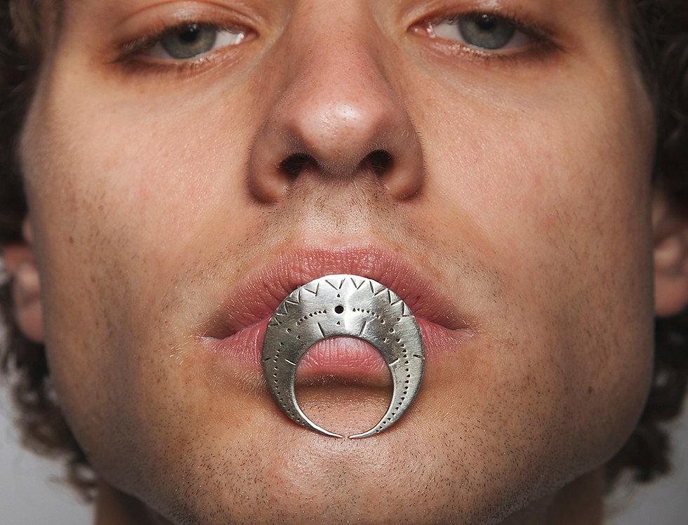 Silver Moon Lip Jewelry