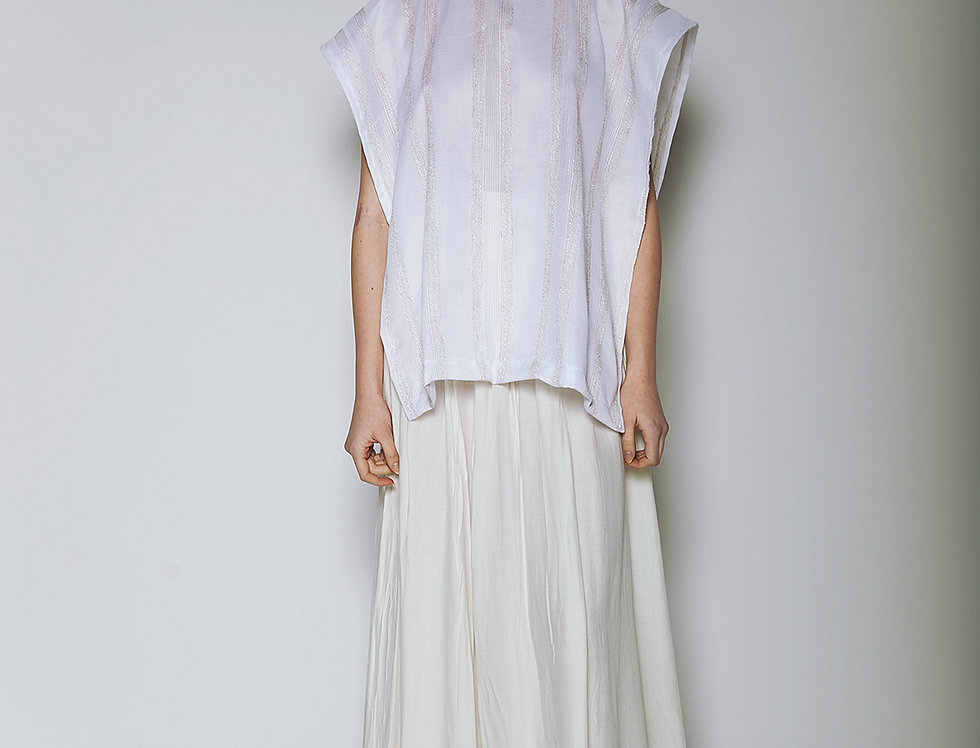 Long White Skirt