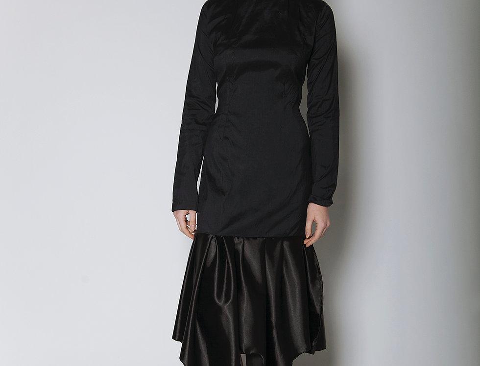 Long Black Ruffle Dress
